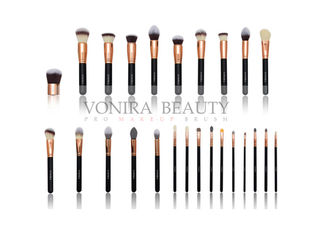 Private Label Rose Gold Makeup Brushes 25pcs Eye Makeup Brush Set